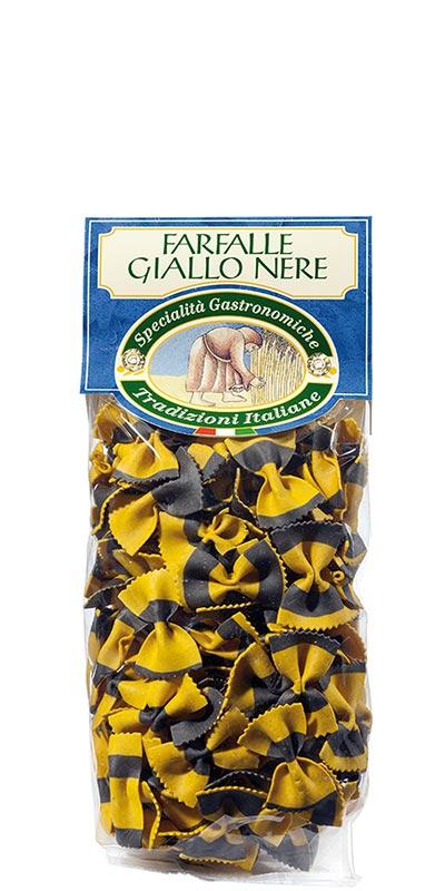 FARFALLE GIALLO NERE (yellow and black bow ties) 250g durum wheat semolina