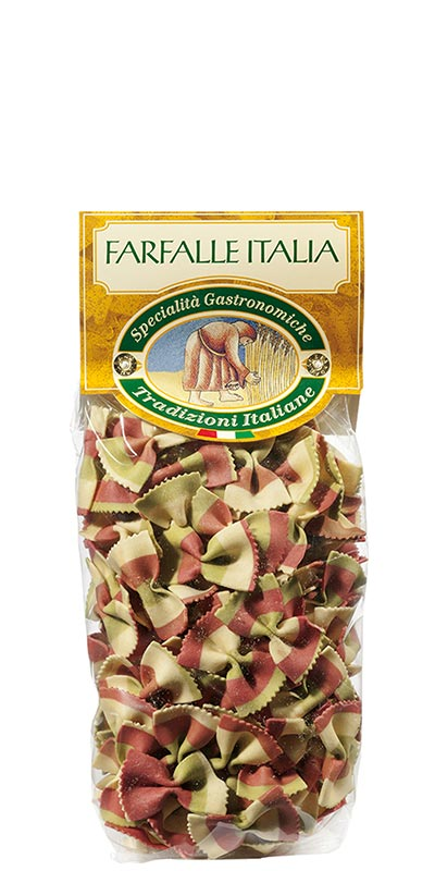FARFALLE ITALIA (three-coloured bow ties) 250g durum wheat semolina