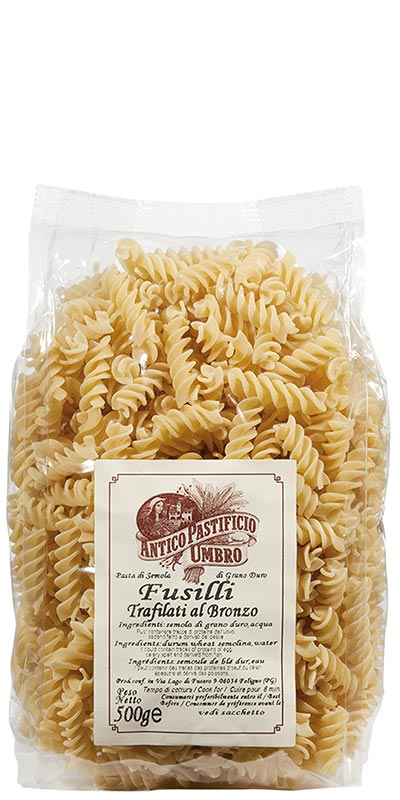 FUSILLI (twists) 500g bronze-died