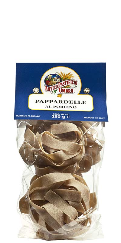 PAPPARDELLE AL FUNGO PORCINO (large ribbons with porcini mushroom) 250g durum wheat semolina