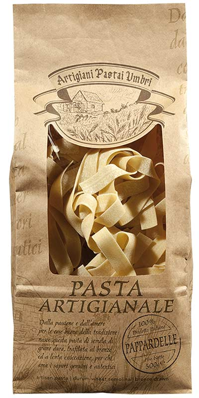 PAPPARDELLE (large ribbons) 500g bronze-died