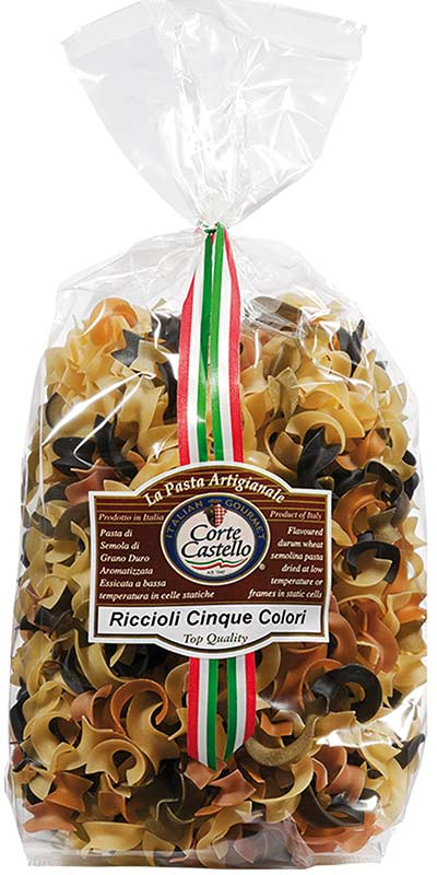 RICCIOLI CINQUE COLORI (five-colour curls) 500g durum wheat semolina