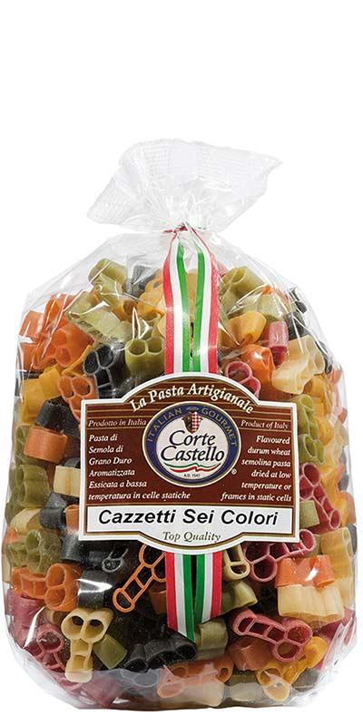 CAZZETTI CINQUE COLORI (five-colour) 500g durum wheat semolina