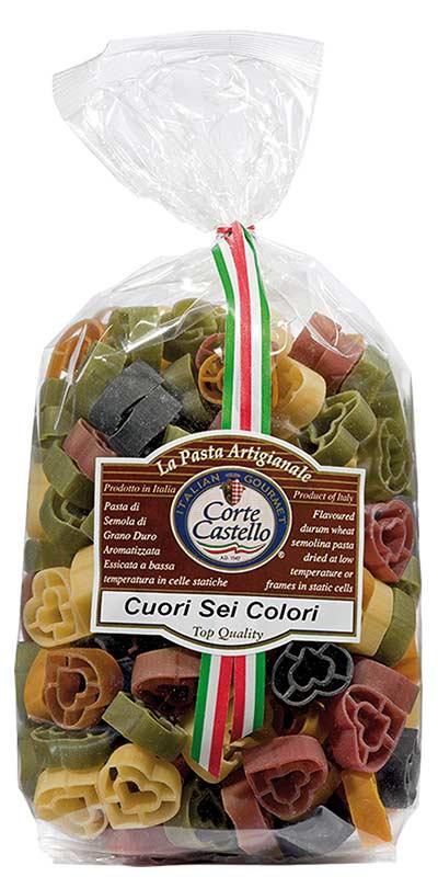 CUORI SEI COLORI (six-colour hearts) 500g durum wheat semolina