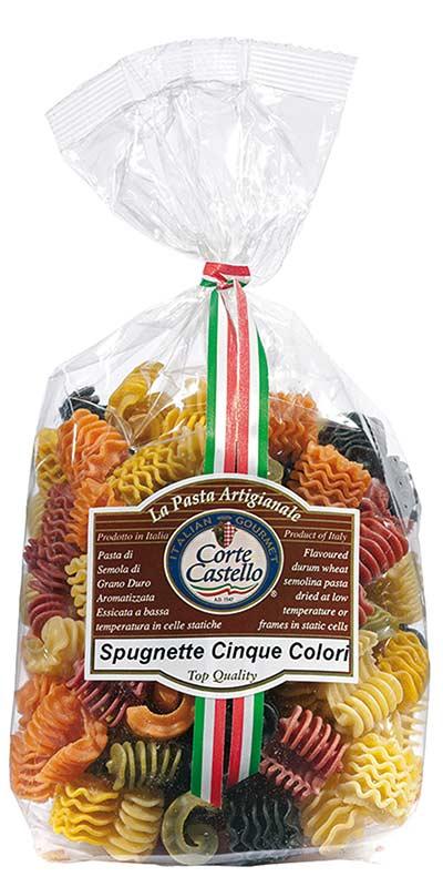 SPUGNETTE CINQUE COLORI (five-colour sponges) 500g durum wheat semolina