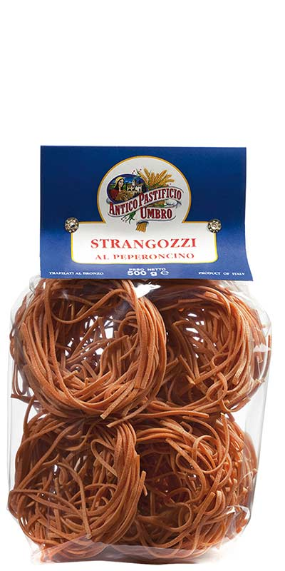 STRANGOZZI AL PEPERONCINO (with hot chilli pepper) 500g durum wheat semolina
