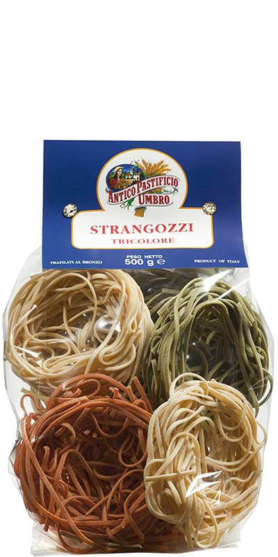 STRANGOZZI TRICOLORE (three-coloured) 500g durum wheat semolina